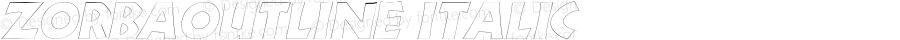 ZorbaOutline Italic Rev. 003.000