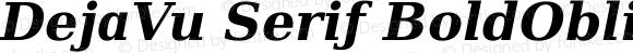 DejaVu Serif BoldOblique