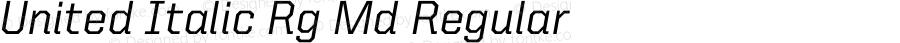 United Italic Rg Md Regular Version 1.101;PS 001.001;hotconv 1.0.38
