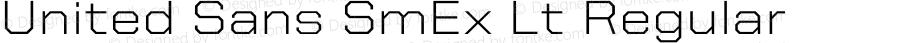 United Sans SmEx Lt Regular Version 1.101;PS 001.001;hotconv 1.0.38