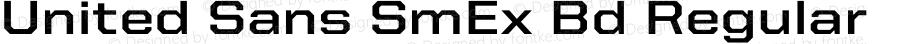 United Sans SmEx Bd Regular Version 1.101;PS 001.001;hotconv 1.0.38