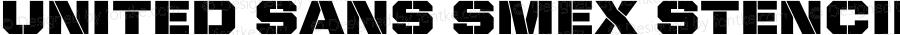 United Sans SmEx Stencil Regular Version 1.101;PS 001.001;hotconv 1.0.38
