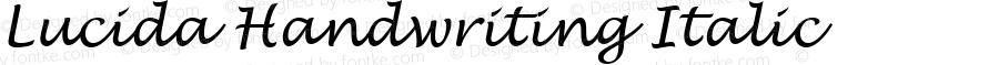 Lucida Handwriting Italic Version 1.01