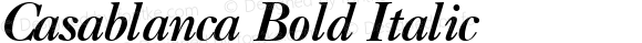 Casablanca Bold Italic