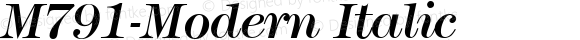 M791-Modern Italic Version 1.0 20-10-2002