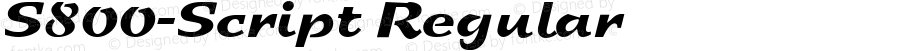 S800-Script Regular Version 1.0 28-08-2002