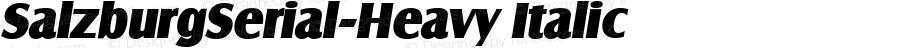 SalzburgSerial-Heavy Italic Version 1.0 28-08-2002
