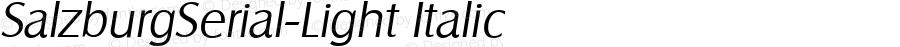 SalzburgSerial-Light Italic Version 1.0 28-08-2002