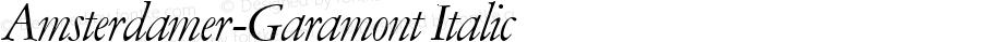 Amsterdamer-Garamont Italic Version 1.0 08-10-2002