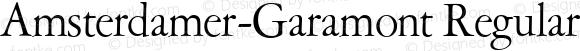 Amsterdamer-Garamont Regular Version 1.0 08-10-2002
