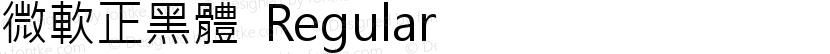 微軟正黑體 Regular Preview Image