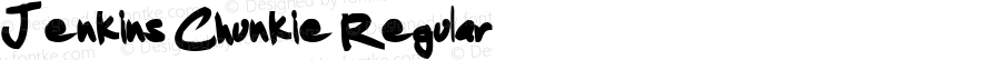 Jenkins Chunkie Regular Macromedia Fontographer 4.1.3 3/18/02