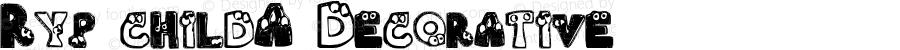 Ryp childA Decorative 1.0 Fri Dec 04 10:05:40 1998