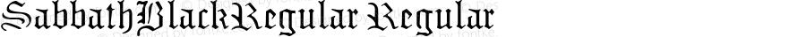 SabbathBlackRegular Regular Macromedia Fontographer 4.1 12/6/97