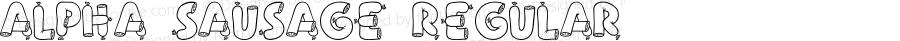 Alpha Sausage Regular Macromedia Fontographer 4.1 2002-10-21