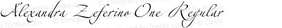 Alexandra Zeferino One Regular Version 3.001;PS 003.000;hotconv 1.0.38