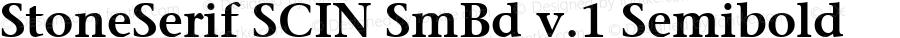StoneSerif SCIN SmBd v.1 Semibold Macromedia Fontographer 4.1 3/7/00