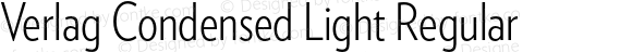 Verlag Condensed Light Regular