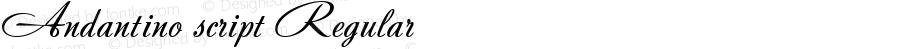Andantino script Regular Version 1.000 2006 initial release