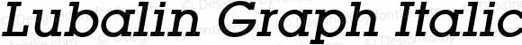 Lubalin Graph Italic