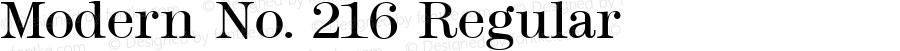Modern No. 216 Regular Altsys Fontographer 3.5  11/26/92