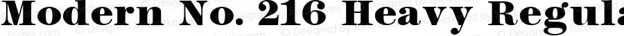 Modern No. 216 Heavy Regular Altsys Fontographer 3.5  11/26/92