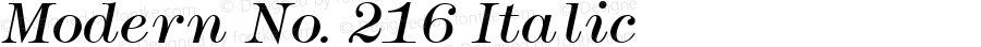 Modern No. 216 Italic Altsys Fontographer 3.5  11/26/92