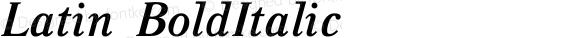 Latin-BoldItalic