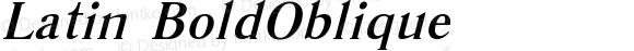 Latin Bold Oblique