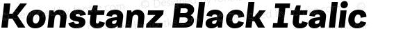 Konstanz Black Italic