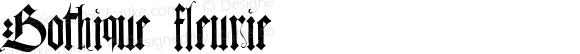 Gothique fleurie Macromedia Fontographer 4.1.5 28/04/00