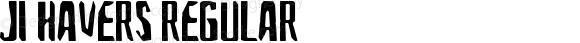 JI-Havers Regular Macromedia Fontographer 4.1 8/3/2001