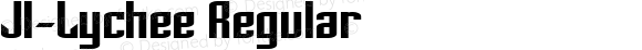 JI-Lychee Regular Macromedia Fontographer 4.1 5/22/2001