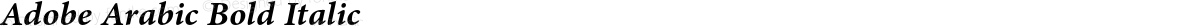 Adobe Arabic Bold Italic