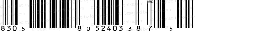 IDAutomationSUPCEANXS Regular Version 6.800;PS 006.008;hotconv 1.0.38