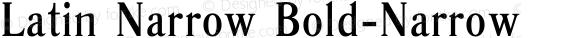Latin Narrow Bold-Narrow