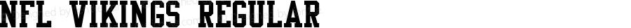 NFL Vikings Regular Macromedia Fontographer 4.1 9/30/06