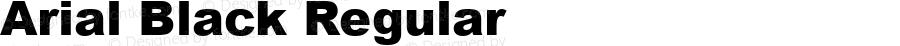 Arial Black Regular Version 5.00