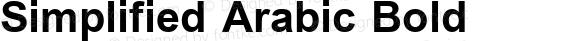 Simplified Arabic Bold Version 5.00