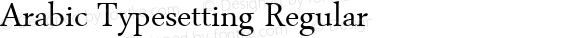 Arabic Typesetting Regular Version 5.00