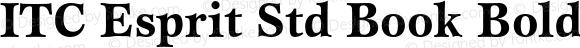 ITC Esprit Std Book Bold OTF 1.018;PS 001.000;Core 1.0.31;makeotf.lib1.4.1585