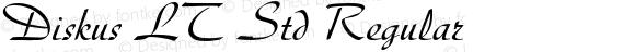 Diskus LT Std Regular OTF 1.029;PS 001.001;Core 1.0.33;makeotf.lib1.4.1585