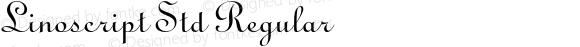Linoscript Std Regular OTF 1.029;PS 001.003;Core 1.0.33;makeotf.lib1.4.1585