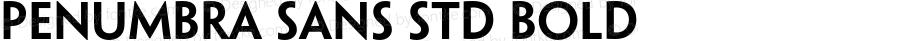 Penumbra Sans Std Bold OTF 1.018;PS 001.002;Core 1.0.31;makeotf.lib1.4.1585