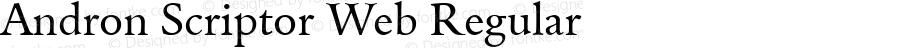 Andron Scriptor Web Regular Version 2.005 2006