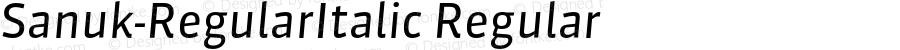 Sanuk-RegularItalic Regular 7.046