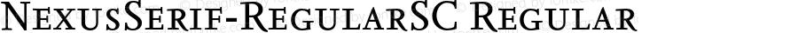 NexusSerif-RegularSC Regular 4.460