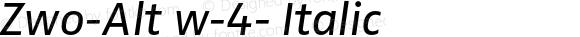 Zwo-Alt w-4- Italic 4.313