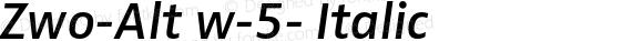 Zwo-Alt w-5- Italic 4.313
