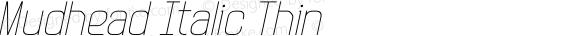 Mudhead Italic Thin
